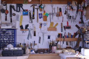taxidermy workshop tools display